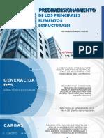 PRE-DIMENSIONAMIENTO DE ELEMENTOS ESTRUCTURALES