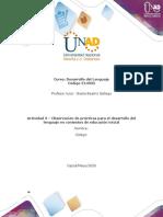 Actividad 3 - Observación de prácticas para el desarrollo del lenguaje en contextos