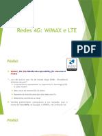 Redes 4G, WiMAX e LTE