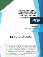 El Juicio Oral - Afectación Del Principio de Continuidad Del Juicio Oral
