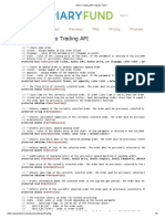 Alveo Trading API _ Apiary Fund