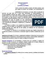 Guía de Derecho Probatorio Temas 1 al 5 (CAAM)