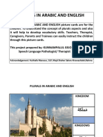 Plurals in Arabic and English