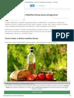 Dieta Mediterrânea_ O que é e Como fazer para perder peso - Tua Saúde