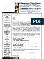 72nd PIChE National Convention 2011 - Invitation - Technical Paper Presentor - Name