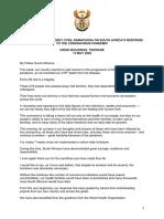 Pres. Cyril Ramaphosa se toespraak op 13 Mei 2020