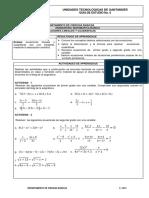 6. Ecuaciones Lineales y Cuadráticas