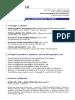 CURRICULO DOUGLAS MELO - VAGA ENGENHEIRO DE PROJETOS