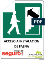 ACCESO A INSTALACION DE FAENA