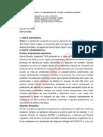 CONVERSION DE LA PENA  NO PROCEDE REICIDENTE Y HABITUAL Exp.-266-2019-LP