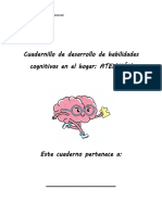 Cuadernillo de Desarrollo de Habilidades Cognitivas ATENCION 1