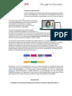 Carta Bienvenida - Estrategia de Educación a Distancia SEP-Google for Education