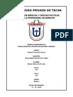 CONCLUSIÓN DEL PROCESO EN MATERIA LABORAL - DERECHO PROCESAL LABORAL - ABOG.  EDGARD DANIEL ARIAS CUTIPA