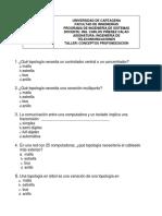 TALLER 2 CONCEPTOS DE REDES DE DATOS