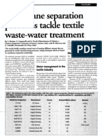 Membrane Separation Processes Tackle Textile Waste-water Treatment