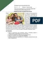 GUIA DE EDUCACION ETICA GRADO 8 II SEMANA