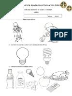 evaluacion I bimestral ciencia y ambiente