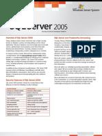 SQL Server 2005 Security Datasheet
