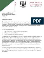 Letter to Merrilee Fullerton - Madonna Care Community