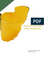 TITULOS VALORES ELECTRONICOS