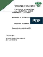 Interjet suspendido de la IATA