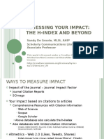 How_to_Measure_Your_Impact_h-index_clinic.ppt