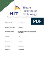 Denzel Chiuseni H190672R TEC Assignment 1