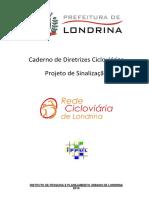 BHLS_Caderno de Diretrizes Cicloviárias - Projeto de Sinalização