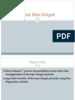 Input Dan Output