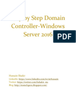 Step by Step Installation of Windows Server 2016 Domain Controller