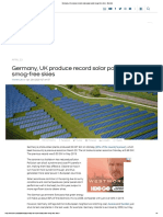 Germany, UK produce record solar power amid smog-free skies - Electrek