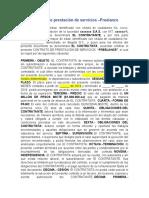 Modelo Contrato de prestación de servicios (freelance)
