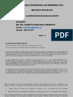 CLASIFICACION DE SUELOS AASHTO - Sesión 5