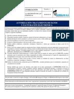 (DEFINITIVO) AUTORIZACIÓN TRATAMIENTO DE DATOS Y FACTURACIÓN ELECTRÓNICA