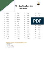 Spelling Bee - List of Words - 2017 - Final.pdf