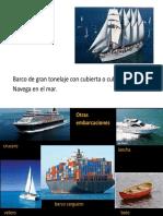¡Buen viaje! Vocabulario. buque.pptx