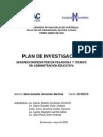 PLAN DE INVESTIGACIÓN SEGUNDO INGRESO PEM-MARIA HERNANDEZ-.pdf
