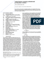 Identification of principal factors causing unbalanced
