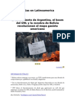 El Gas en Latinoamerica (Declive de Bolivia)