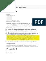 EVALUACION DE LA CLASE  6 DIRECCION DE PROYECTOS 2