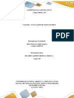 Taller 6 - Evaluacion de textoescritoDianaCastillo