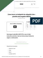 Cómo hacer un bolígrafo de caligrafía Cola + plantilla descargable GRATIS _ Hecho por Edgar