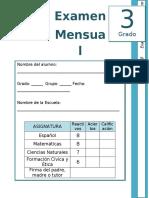 3er Grado - Examen Mensual Enero (2019-2020)