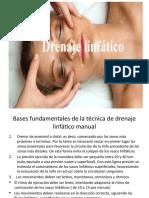 Drenaje linfatico DLM facial