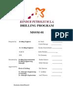 Drilling Program MSSM01 280808 SPUD Rev00