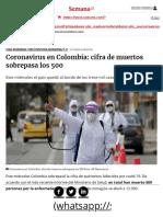 Coronavirus en Colombia hoy 13 de mayo_ 12.930 casos