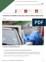 Coronavirus en Colombia en vivo_ casos, muertes y últimas noticias de hoy - AS Colombia