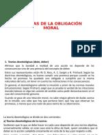 TEORÍAS DE LA OBLIGACIÓN MORAL POWER POINT