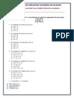EXAMEN  FINAL MATEMÁTICAS 11