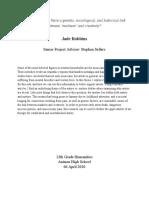 jades senior thesis - jade robbins